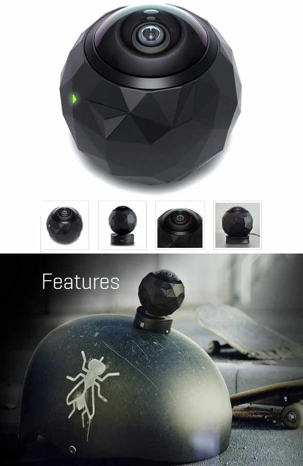 360 Fly Camera Action dengan sudut 360 derajat