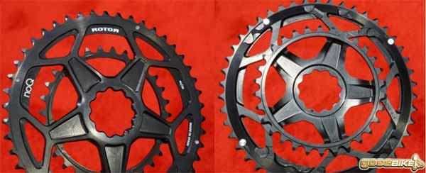 Rotor Spidering double chainring satu unit