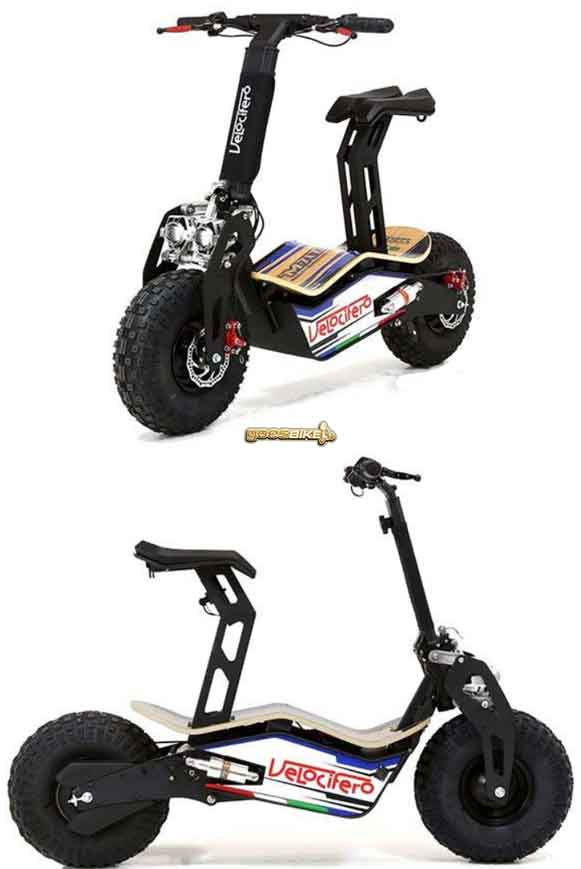 Velocifero MAD Electric Scooter dapat dilipat